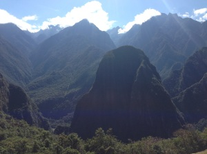 Foresta e panorama attorno Machu Picchu
