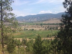 La valle a sud di Kelowna