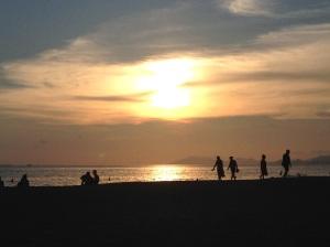 Isola di Hainan: tramonto a Sanya