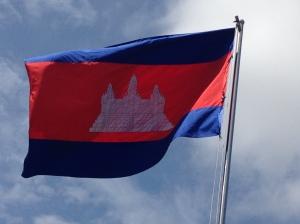 La bandiera cambogiana