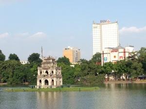 Pagoda sul lago Hoan kien